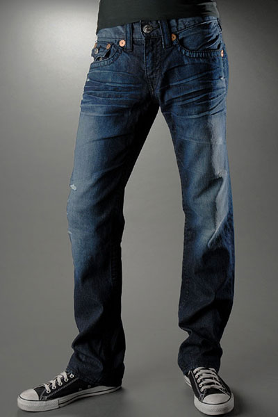 True Religion Mens Straight Leg Jeans