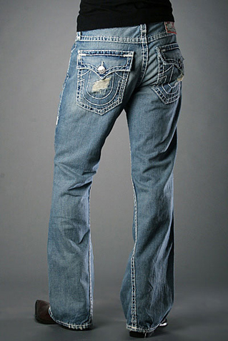 Men's True Religion Jeans'Joey' Super T - Cowboy Destroyed