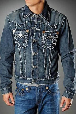 True Religion Mens Jimmy Jacket - High Plains Dark