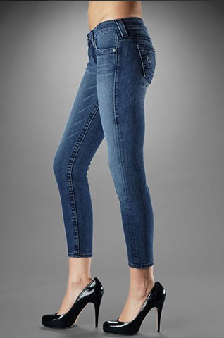 True Religion Womens Crops Jeans