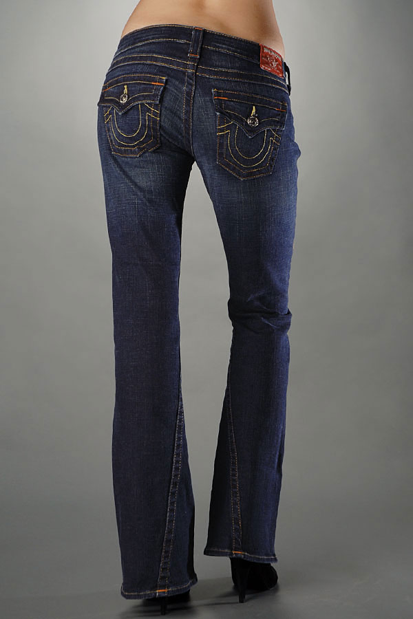 True Religion Women's Jeans Joey Petite - Dark Pony Express
