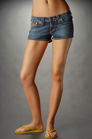True Religion Womens Shorts Jeans